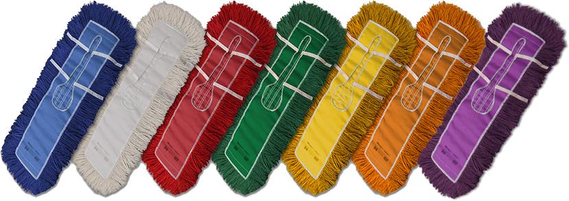 Dust Mop Synthetic Yarn Blend Industrial Closed Loop