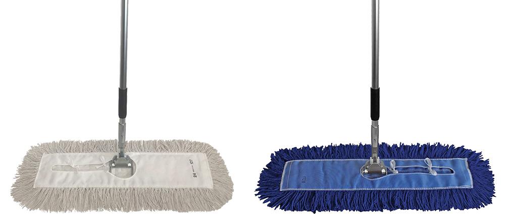 "Dust Mop Kit 18/"" Blue Industrial Microfiber Dust Mop Wire Frame /& Handle"