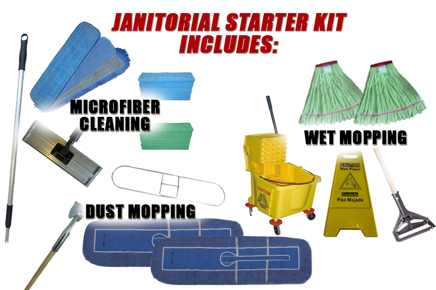 Janitorial Supply Kit Commercial Cleaning Kits